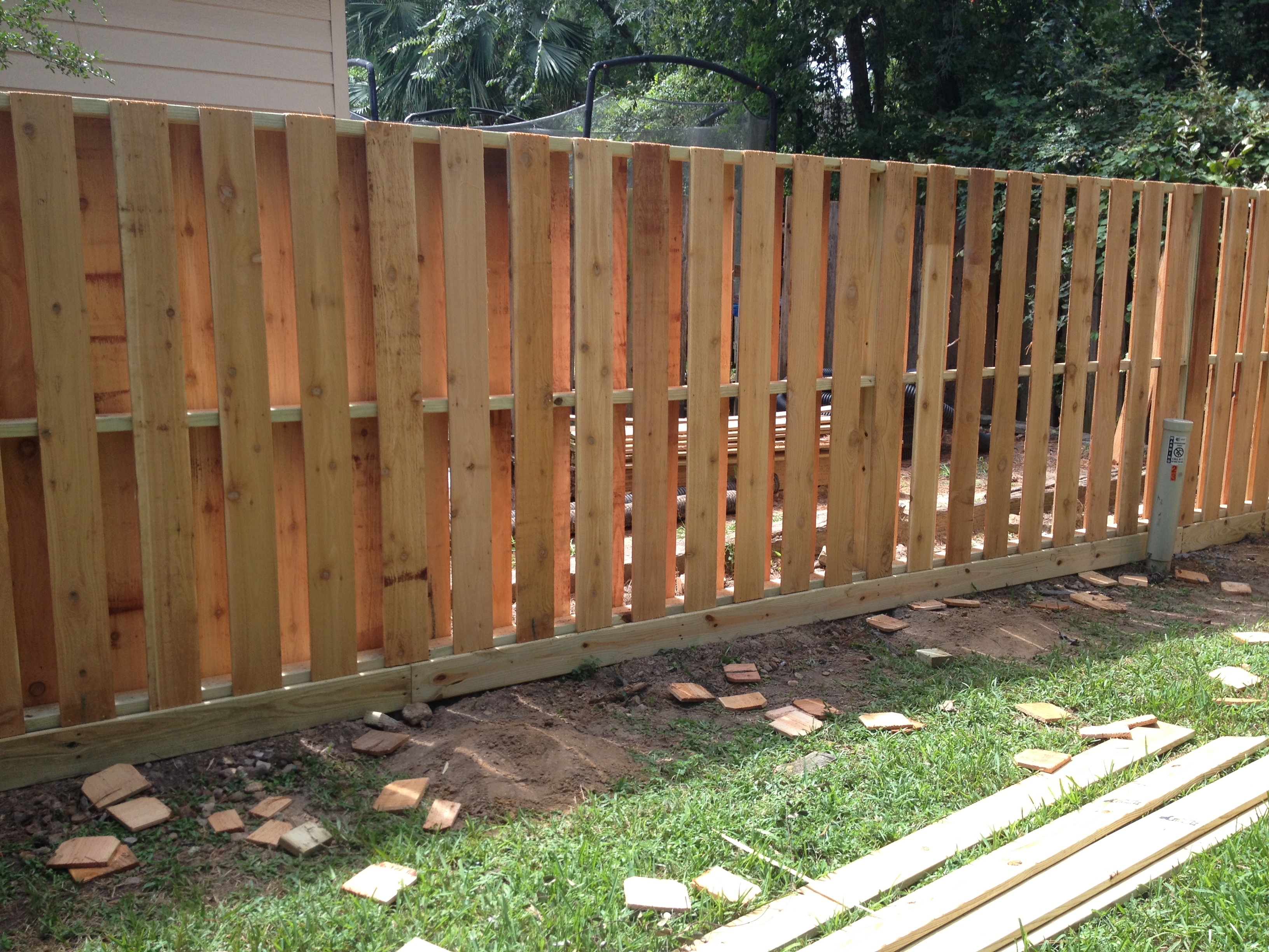 Pictures of wooden fences Front Yard Woodenfencestomballtx07 Brock Fence Inc Wooden Fences 360 Fence Company